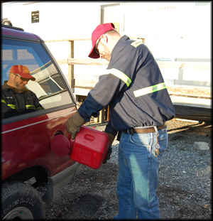 Joe With RC Towing Lancaster Filling Up A Empty Gas Tanks