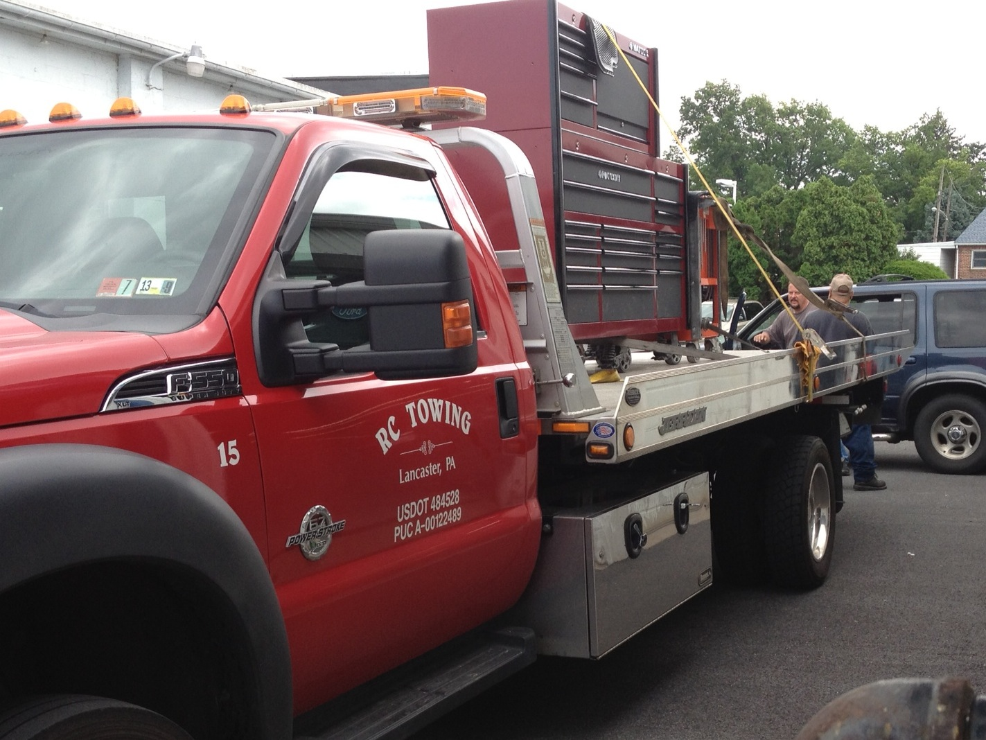 Call Patriot - St. Denis - RC Towing (717) 393-8881 to transport toolbox